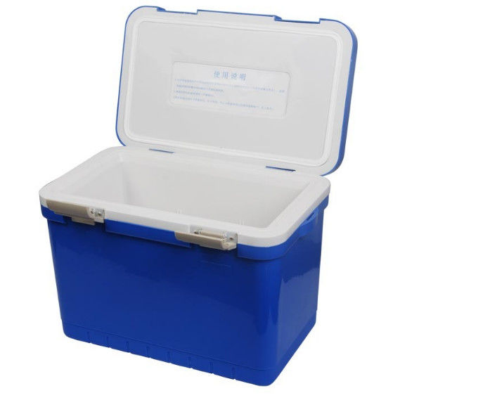 12L Plastic Foam Green Cold Chain Packaging PCM Cooler Box With Handle In Medical